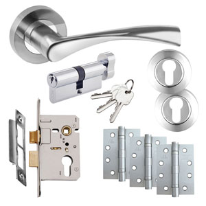 Complete Door Handle Packs - Lock and Latch Sets | e-Hardware