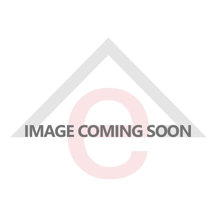 Serozzetta Tres Door Handle on Rose - Lock - Satin Chrome