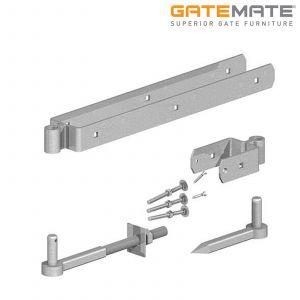 Gatemate Field Gate Double Strap Hinge Set - 300mm - Galvanised