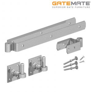 Gatemate Field Gate Double Strap Hinge Set With Adjustable Hook On Plate
