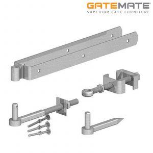 Gatemate Field Gate Adjustable Double Strap Hinge Set - 300mm - Galvanised