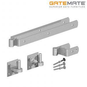 Gatemate Field Gate Self-Closing / Rising 45 Degrees Hinge Set - Galvanised