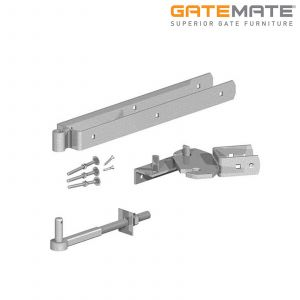 Gatemate Field Gate Self-Closing / Rising 180 Degrees Hinge Set With Rocker Plate