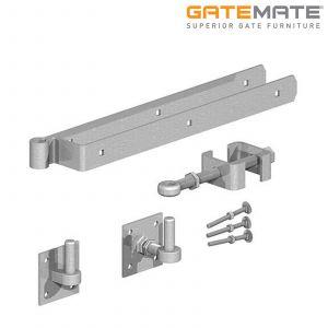 Gatemate Field Gate Self-Closing / Rising 90 Degrees Hinge Set - Galvanised