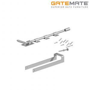 Gatemate Double Field Gate Fastener Set With Garage Door Bolt - 450mm - Galvanised