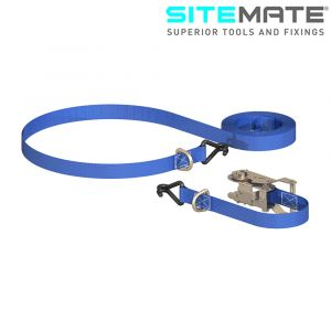 Sitemate Heavy Duty Ratchet Tie Down with Chassis Hooks & D Rings
