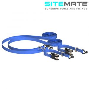 Sitemate Heavy Duty Ratchet Tie Down with Chassis Hooks