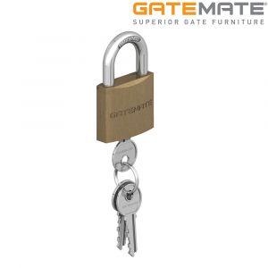 Gatemate Traditional Brass Padlock Chrome Shackle