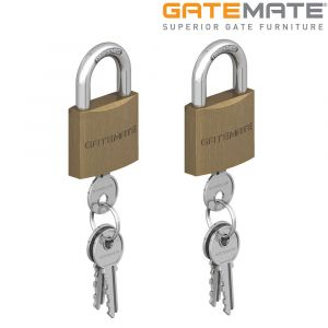 Gatemate Traditional Brass Padlock Chrome Shackle Pack of 2