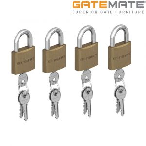Gatemate Traditional Brass Padlock Chrome Shackle Pack of 4