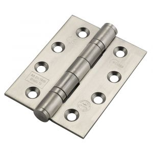 Eclipse 4 Inch Stainless Steel Ball Bearing Hinge - Satin Stainless Steel