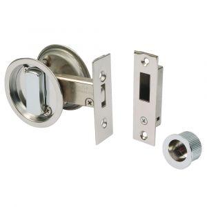 Round Sliding Door Bathroom Hook Lock