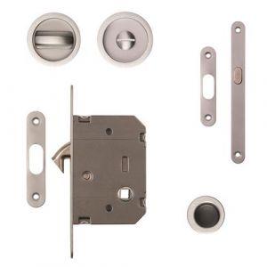 Sliding Door Bathroom Hook Lock Set With Door End Pull