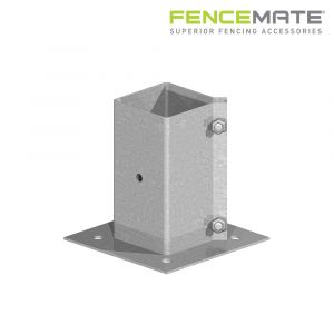 Fencemate Swift Clamp Bolt Down Post Support - Galvanised