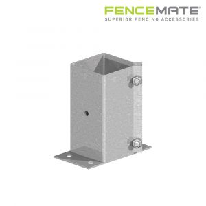 Fencemate Swift Clamp Flush Bolt Down Post Support - Galvanised