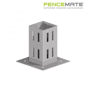 Fencemate Hold Fast Bolt Down Post Support - Galvanised