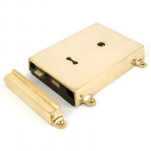 From The Anvil Rim Lock & Cover - Polished Brass