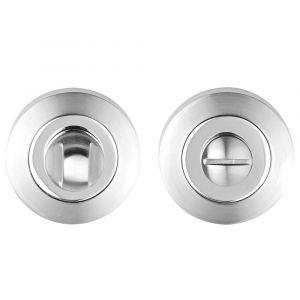 Bathroom Turn & Release - Polished Chrome / Satin Chrome