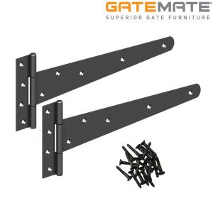 Gatemate Light Tee Hinge - Epoxy Black