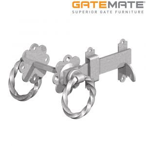 Gatemate Twisted Ring Gate Latch - Galvanised