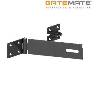 Gatemate Safety Pattern Hasp and Staple - Epoxy Black