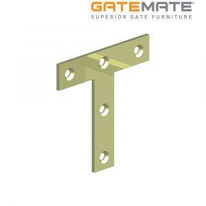 Gatemate Tee Plates - Zinc Plated / Yellow Passivated