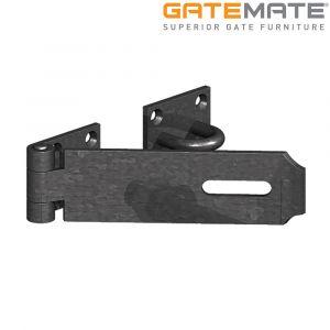 Gatemate Heavy Safety Pattern Hasp and Staple - Epoxy Black