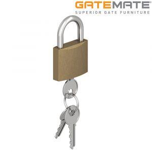 Gatemate Brass Padlock with Chrome Shackle