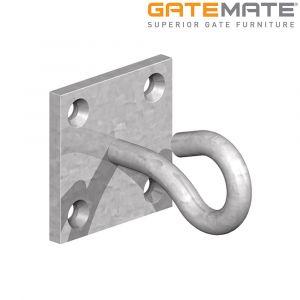 Gatemate Hook on Plate - Galvanised.