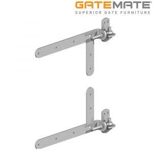 Gatemate Braced Adjustable Hook & Band Hinges - Galvanised