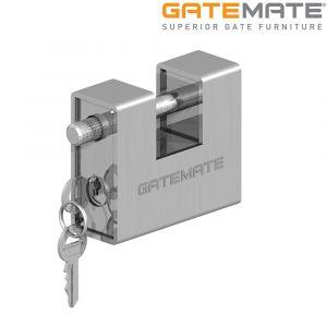 Gatemate Heavy Duty Armoured Block Padlock - Steel Nickel