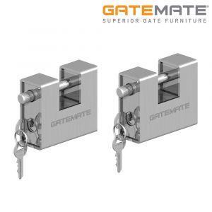 Gatemate Heavy Duty Armoured Lock Padlock Stainless Steel Pack of 2