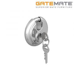 Gatemate Discus Padlock Stainless Steel - 70mm - Pack of 2