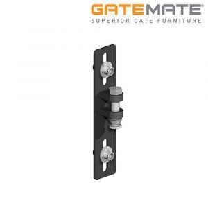 Gatemate Easi-Fit Adjustable Gate Post System - Standard Hinge Set - Premium Black