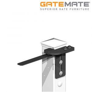 Gatemate Easi-Fit Adjustable Gate Post System - Top Pivot Hinge - Right Hand - Premium Black
