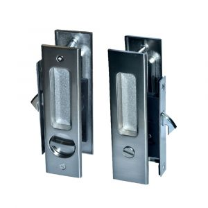Sliding Door Lock Back and Front View - Privacy