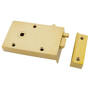 From The Anvil Bathroom Latch - Left Hand - Polished Brass