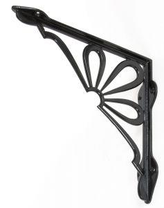From The Anvil Flower Shelf Bracket - Black