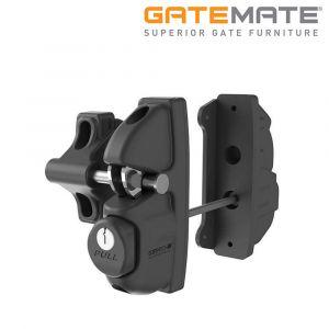 Gatemate Pro Gravity Latch - Double Locking - Keyed To Differ - Black Polymer