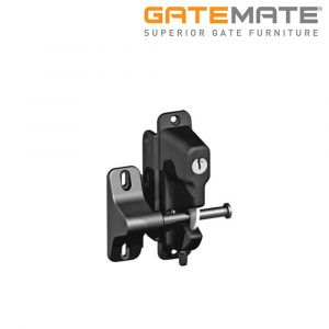 Gatemate Zinc Alloy Gravity Latch - Single Locking - Keyed To Differ - Black