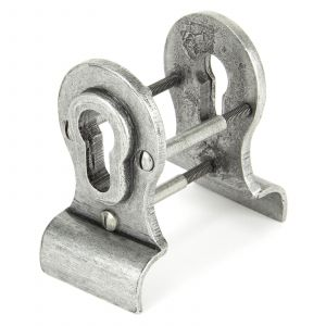 From The Anvil Blacksmith Euro Door Pull Back-to-Back Fixings - Pewter