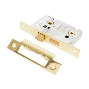 From The Anvil Bathroom Mortice Lock - 44mm - PVD Brass
