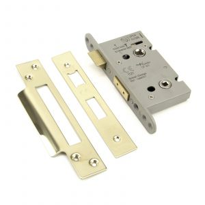 From The Anvil Heavy Duty Bathroom Mortice Lock - 44mm - PVD Brass