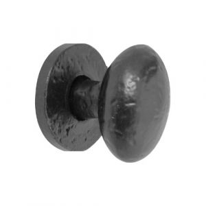 Oval Cupboard Knob 32mm - Black Antique