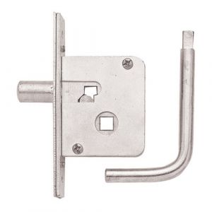 Budget Mortice Lock With Key 60mm x 56mm - Nickel Plated