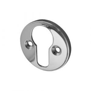 Raised Euro Profile Keyhole Cover 40mm - Polished Chrome