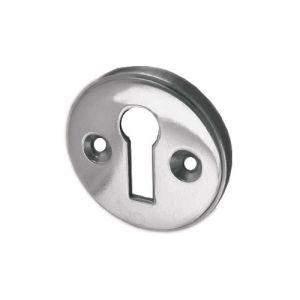 Raised Keyhole Cover 40mm - Polished Chrome