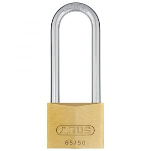 ABUS 65 Brass Long Shackle Padlock Keyed to Differ