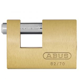 ABUS 82/90 Brass Shutter PadLock Keyed to Differ - 90mm