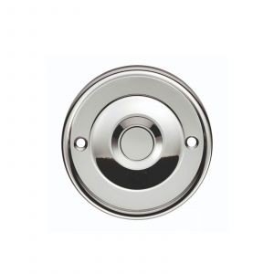 Round Bell Push - Polished Chrome
